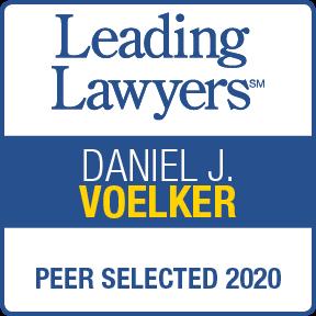 Leading Lawyers - Peer Selected 2020 - Daniel J. Voelker